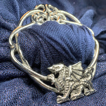 Load image into Gallery viewer, Pewter Welsh Dragon Scarf Ring