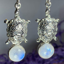Load image into Gallery viewer, Turtle Moonstone Earrings