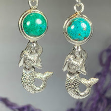 Load image into Gallery viewer, Mermaid Earrings, Ocean Jewelry, Sea Jewelry, Beach Jewelry, Nautical Jewelry, Sister Gift, Mom Gift, Girlfriend Gift, Best Friend Gift