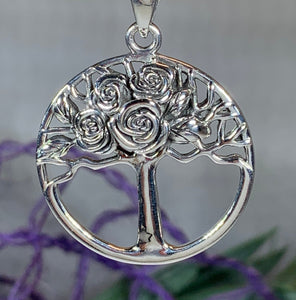 Roses Tree of Life Necklace