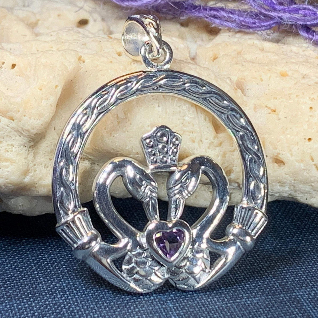 Celtic Swan Claddagh Necklace