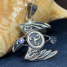 Load image into Gallery viewer, Astrid Celtic Raven Necklace