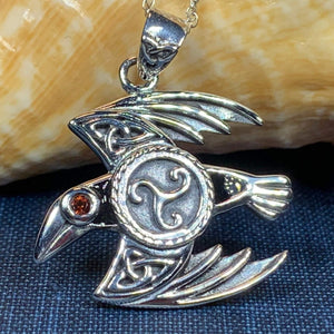 Astrid Celtic Raven Necklace