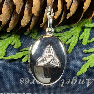 Trinity Knot Locket Necklace