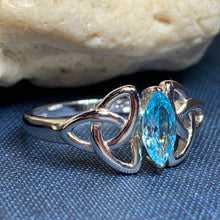 Load image into Gallery viewer, Topaz Trinity Knot Ring