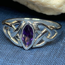 Load image into Gallery viewer, Mystic Topaz Trinity Knot Ring