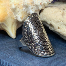 Load image into Gallery viewer, Celtic Shield Ring, Celtic Jewelry, Irish Jewelry, Celtic Warrior Jewelry, Irish Ring, Irish Gift, Anniversary Gift, Bridal Ring, Wiccan
