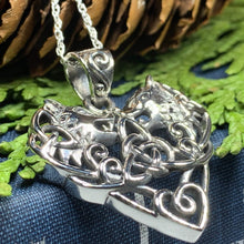 Load image into Gallery viewer, Celtic Wolf Love Necklace