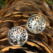 Load image into Gallery viewer, Celtic Tree of Life Stud Earrings