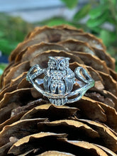 Load image into Gallery viewer, Owl Ring, Bird Jewelry, Owl Jewelry, Nature Jewelry, Celtic Jewelry, Anniversary Gift, Wiccan Jewelry, Pagan Jewelry, Mom Gift, Teacher Gift