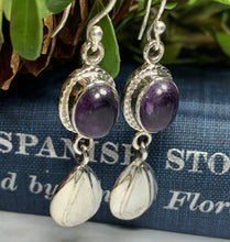 Load image into Gallery viewer, Celtic Leaf Amethyst Earrings