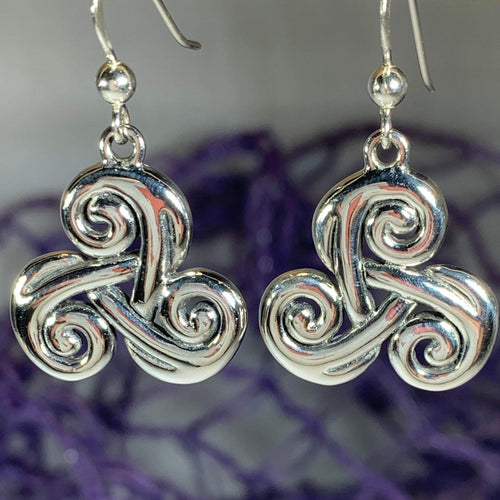 Trinity Knot Earrings, Irish Jewelry, Celtic Jewelry, Anniversary Gift, Wiccan Jewelry, Mom Gift, Sister Gift, Wife Gift, Scotland Jewelry
