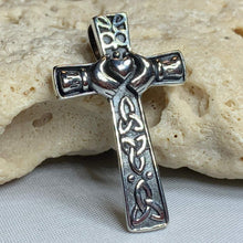 Load image into Gallery viewer, Dayle Celtic Cross Claddagh Necklace