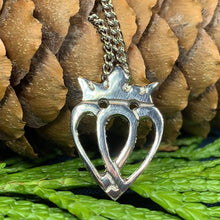 Load image into Gallery viewer, Two Hearts Luckenbooth Necklace