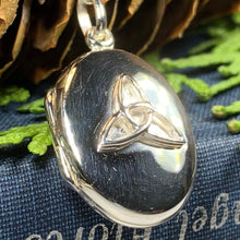 Load image into Gallery viewer, Trinity Knot Locket Necklace