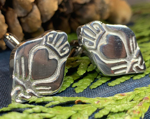 Claddagh Cuff Links, Irish Jewelry, Celtic Jewelry, Dad Gift, Groom Gift, Dad Gift, Graduation Gift, Brother Gift, Ireland Gift, Man Gift