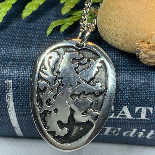 Lion of Scotland Necklace, Lion Jewelry, Animal Jewelry, Scotland Jewelry, Celtic Jewelry, Pagan Jewelry, Man Gift, Anniversary Gift