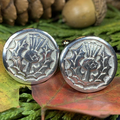 Thistle Cuff Links, Scotland Jewelry, Celtic Jewelry, Dad Gift, Bagpiper Gift, Groom Gift, Best Man Gift, Boyfriend Gift, Husband Gift