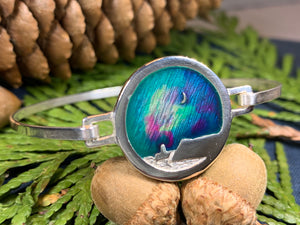 Northern Lights Bracelet, Celtic Jewelry, Scotland Jewelry, Outlander Jewelry, Mountain Jewelry, Girlfriend Gift, Wife Gift, Wiccan Jewelry
