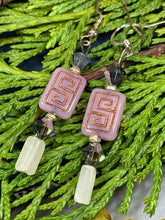 Load image into Gallery viewer, Celtic Blush Earrings, Rose Quartz Jewelry, Celtic Knot Earrings, Mom Gift, Sister Gift, Aunt Gift, Teacher Gift, Wife Gift