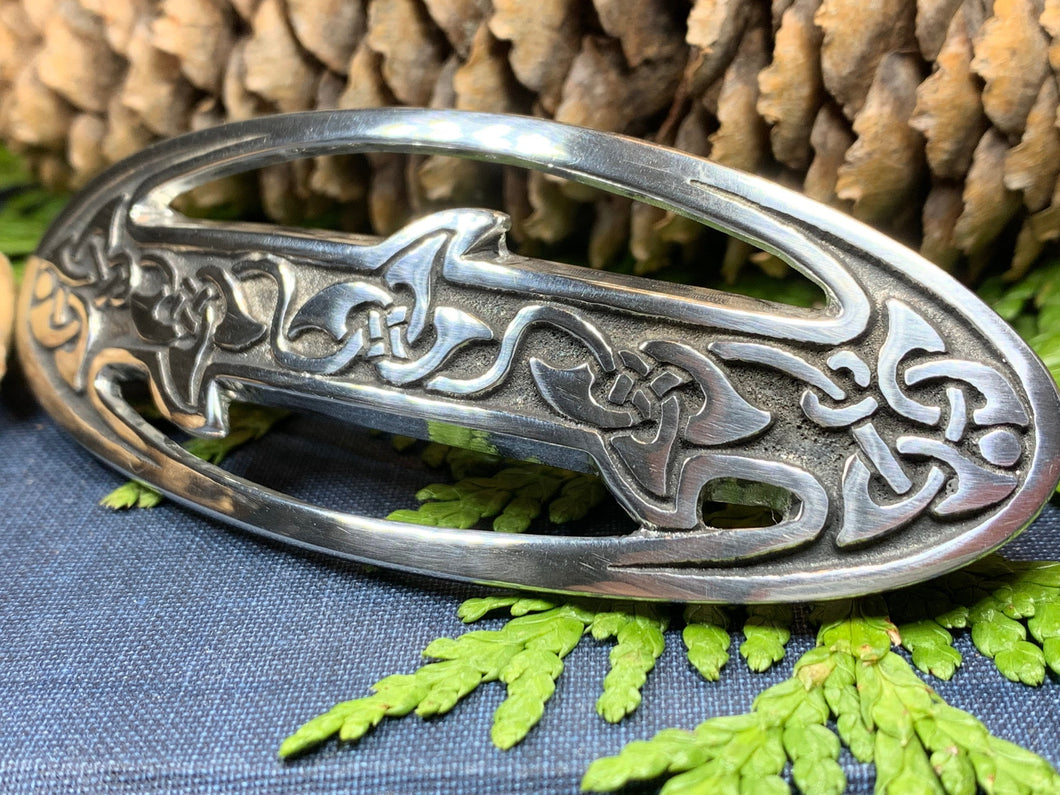 Celtic Knot Hair Clip, Celtic Barrette, Irish Jewelry, Pagan Jewelry, Friendship Gift, Wiccan Jewelry, Norse Jewelry, Animal Barrette