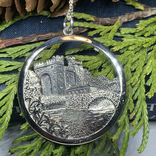 Celtic Castle Necklace, Bunratty Castle, Irish Jewelry, Irish Castle Necklace, Ireland Gift, Castle Jewelry, Mom Gift, Wife Gift