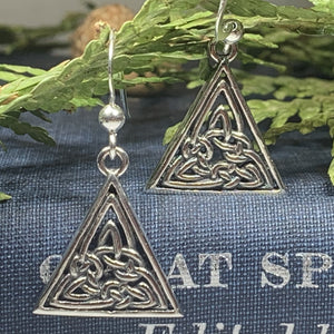 Celtic Knot Earrings, Celtic Jewelry, Irish Jewelry, Norse Jewelry, Bridal Jewelry, Anniversary Gift, Outlander Jewelry, Celtic Earrings
