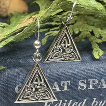 Load image into Gallery viewer, Celtic Knot Earrings, Celtic Jewelry, Irish Jewelry, Norse Jewelry, Bridal Jewelry, Anniversary Gift, Outlander Jewelry, Celtic Earrings