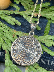 Celtic Spiral Necklace, Celtic Jewelry, Irish Jewelry, Scotland Jewelry, Norse Jewelry, Wiccan Jewelry, Pagan Jewelry, Druid Jewelry