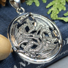 Load image into Gallery viewer, Dragon Necklace, Celtic Jewelry, Celtic Knot Jewelry, Pagan Jewelry, Gothic Necklace, Wiccan Jewelry, Ireland Jewelry, Wales Jewelry
