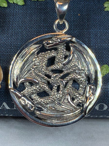Dragon Necklace, Celtic Jewelry, Celtic Knot Jewelry, Pagan Jewelry, Gothic Necklace, Wiccan Jewelry, Ireland Jewelry, Wales Jewelry