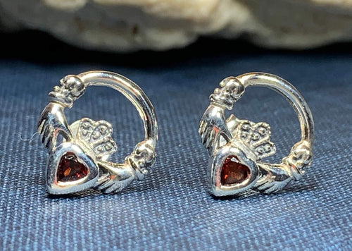 Claddagh Earrings, Celtic Jewelry, Irish Jewelry, Anniversary Gift, Graduation Gift, Best Friend Gift, Bridal Jewelry, Wife Gift, Mom Gift