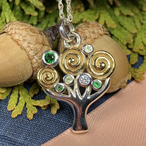 Tree of Life Necklace, Celtic Jewelry, Irish Jewelry, Nature Jewelry, Anniversary Gift, Norse Jewelry, Yoga Jewelry, Graduation Gift