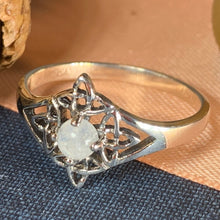 Load image into Gallery viewer, Celtic Star Ring, Moonstone Jewelry, Celtic Knot Ring, Irish Jewelry, Celtic Jewelry, Anniversary Gift, Wiccan Jewelry, Wife Gift, Mom Gift