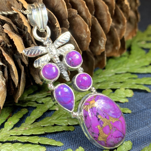 Dragonfly Necklace, Celtic Jewelry, Nature Jewelry, Gemstone Jewelry, Anniversary Gift, Insect Jewelry, Bridal Jewelry, Sweet 16 Gift