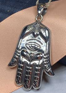 Hamsa Hand Necklace, Celtic Jewelry, Evil Eye Jewelry, Yoga Jewelry, Celtic Knot Jewelry, Protection Jewelry, Hand Jewelry, Yoga Gift