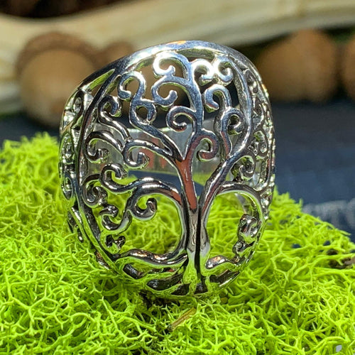 Tree of Life Ring, Celtic Jewelry, Irish Jewelry, Norse Jewelry, Irish Gift, Tree Ring, Anniversary Gift, Bridal Jewelry, Sweet 16 Gift