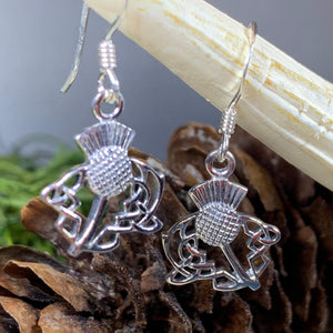 Thistle Earrings, Celtic Jewelry, Scotland Jewelry, Outlander Jewelry, Girlfriend Gift, Sister Gift, Mom Gift, Nature Jewelry, Wife Gift