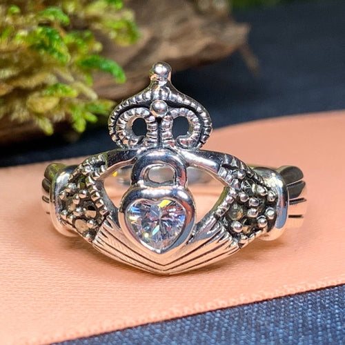 Claddagh Ring, Celtic Jewelry, Irish Jewelry, Celtic Knot Jewelry, Irish Ring, Irish Dance Gift, Anniversary Gift, Luckenbooth Ring