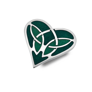 Enamel Celtic Heart Brooch