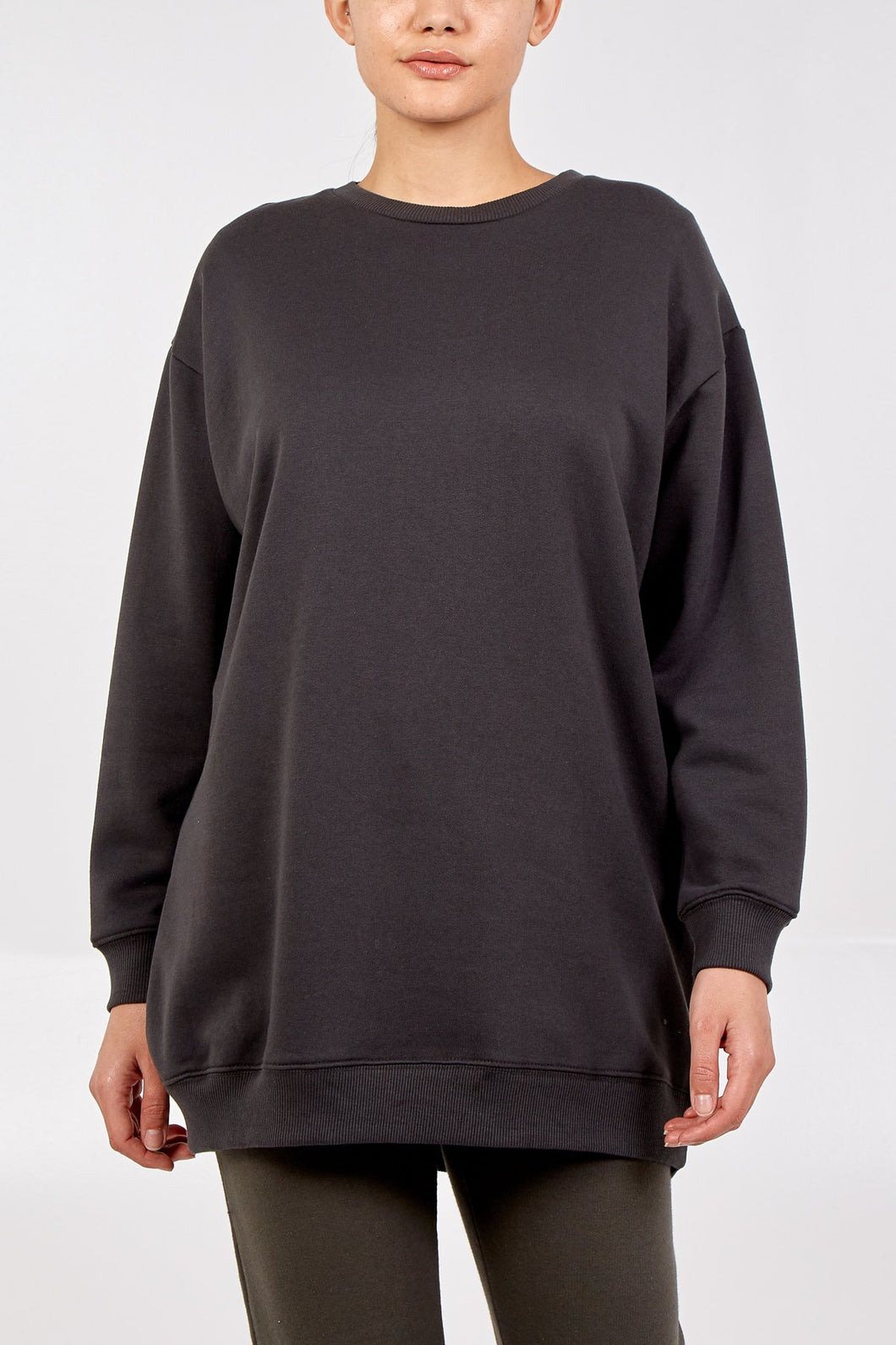 Boxy Sweatshirt - Charcoal