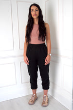 Load image into Gallery viewer, MIA Oversized Cuffed Joggers - Black