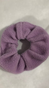 Parma Violet Lilac Fleece Scrunchie
