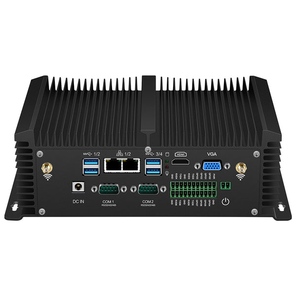 Intel Core i5 8350U i7 Mini PC 2*RS232/422/485 2*LAN 8*USB HDMI VGA GPIO WiFi 4G LTE SIM DDR4