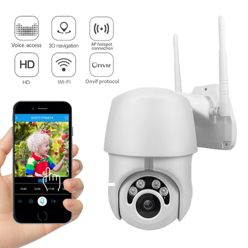 IP Camera WiFi 2MP 1080P Wireless PTZ Speed Dome CCTV IR Onvif Camera Outdoor Security Surveillance IpCam Camara Exterior