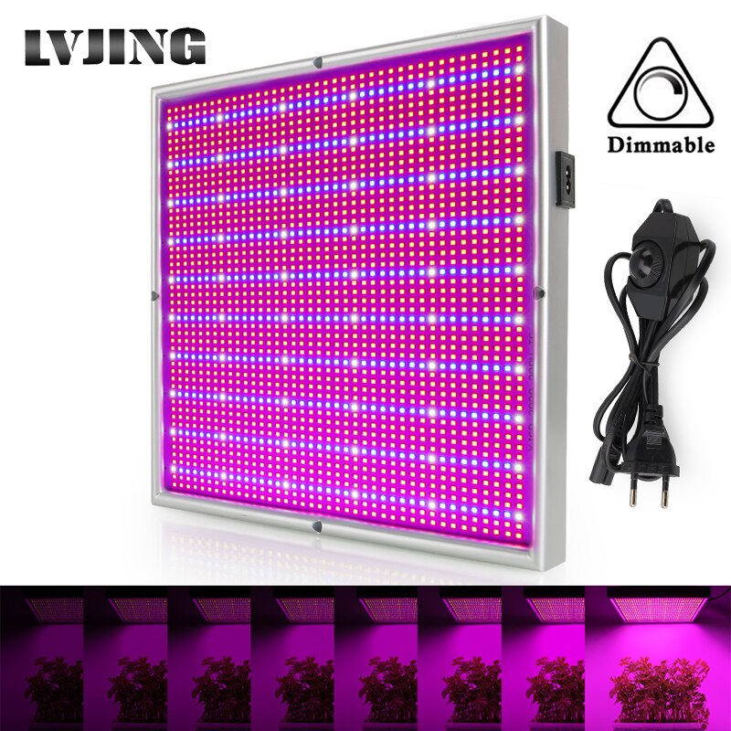 200W Plants Grow Light Panel LED Full Spectrum Indoor Hydroponics Greenhouse Cultivation Growth Lamp For Plants Flowers Dimmable