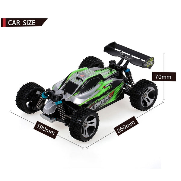 Wtoys 1:18 2.4GHz 4WD RC Car 35/70KM/H High Speed RC Racing Car Remote Control