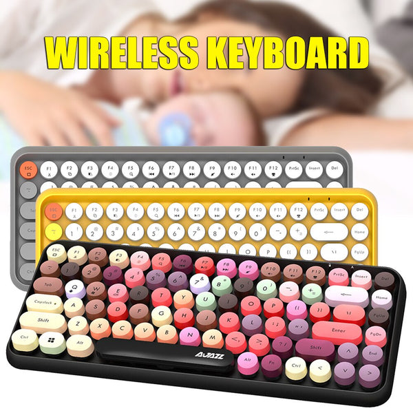 Bluetooth Wireless Keyboard 84 Keys Splash-Proof  for Smartphones iPad Laptops i