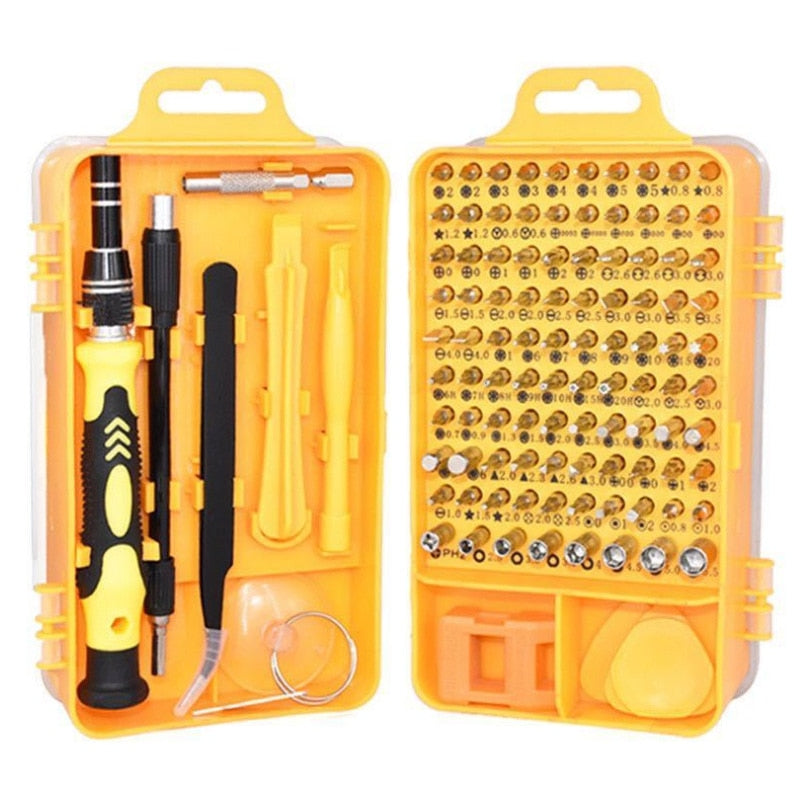 ZK40 Tools Kit Screwdriver Set Precision 115 In 1 Magnetic Torx Hex Insulated Multitools
