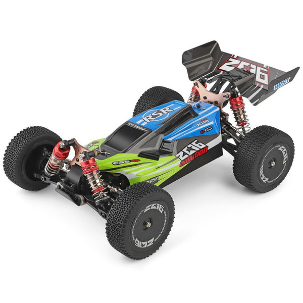 Wltoys 1:14 144001 High Speed Crawler 2.4G 4WD 60km/h Vehicle RC Car Remote w/ 3 Batteries